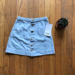 NWT American Apparel denim high-waist skirt XS